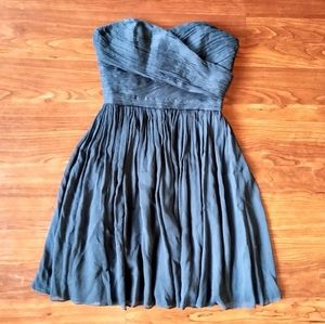 J. Crew Arrabelle black silk strapless dress 0P